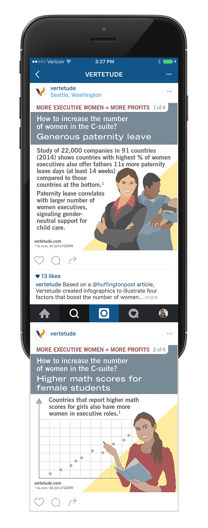 More executive women more profit infographic for mobile and social media