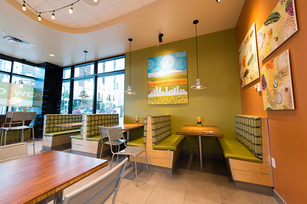 Garbanzo Mediterranean Grill restaurant design and artwork