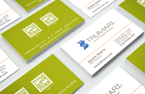 Trumari business cards