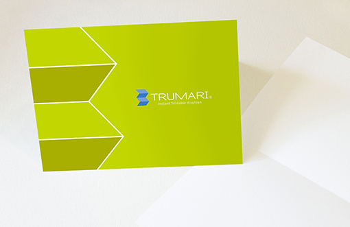 Trumari greeting cards for personalized notes to current and future customers