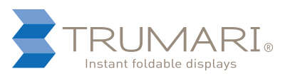 Trumari Instant Foldable Displays logo design horizontal