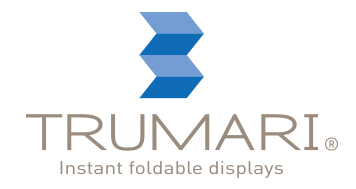 Trumari Instant Foldable Displays logo design vertical and support line
