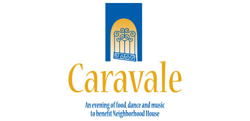 Caravale Fundraising Event for Neighborhood House logo design vertical
