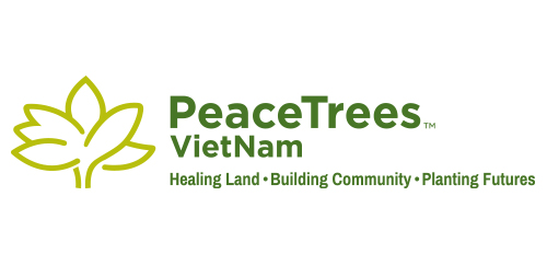 PeaceTrees Vietnam logo design horizontal