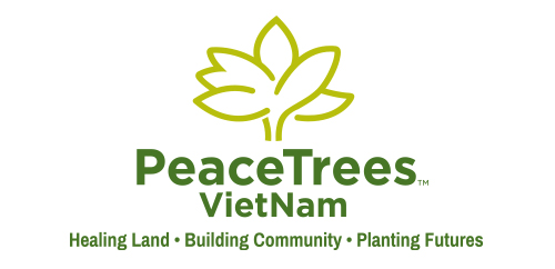 PeaceTrees Vietnam logo design vertical