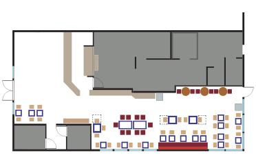 Rubio's Carlsbad restaurant floor plan