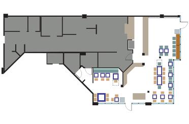 Rubio's La Jolla restaurant layout