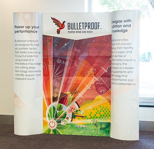 Bulletproof Lama Displays by Trumari artwork backdrop