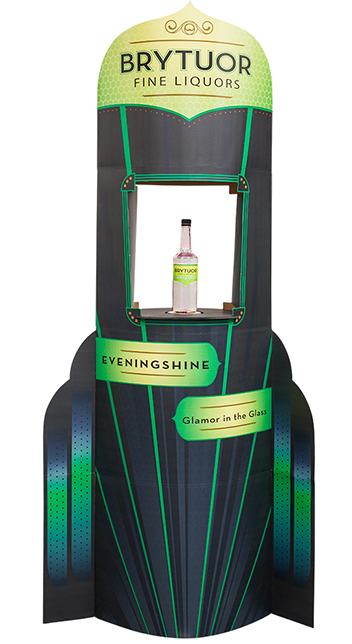 Lama Display for liquor retail stores with rotating product display shelf