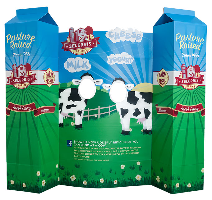 Interactive milk display for food retail industry