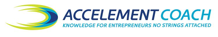 Accelement Logo Design in vertical format