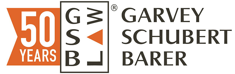 Garvey Schubert Barer law firm branding anniversary logo