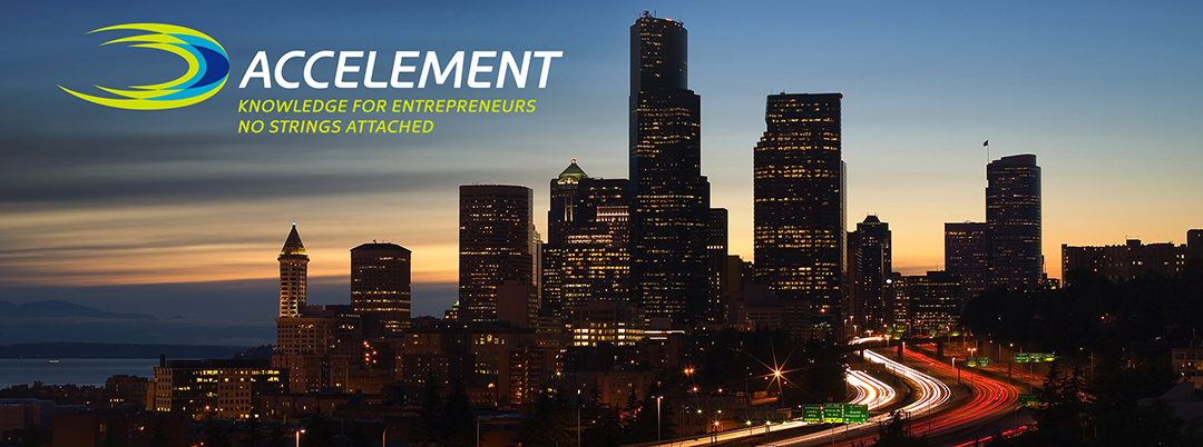 Accelement Jam image of downtown Seattle at night