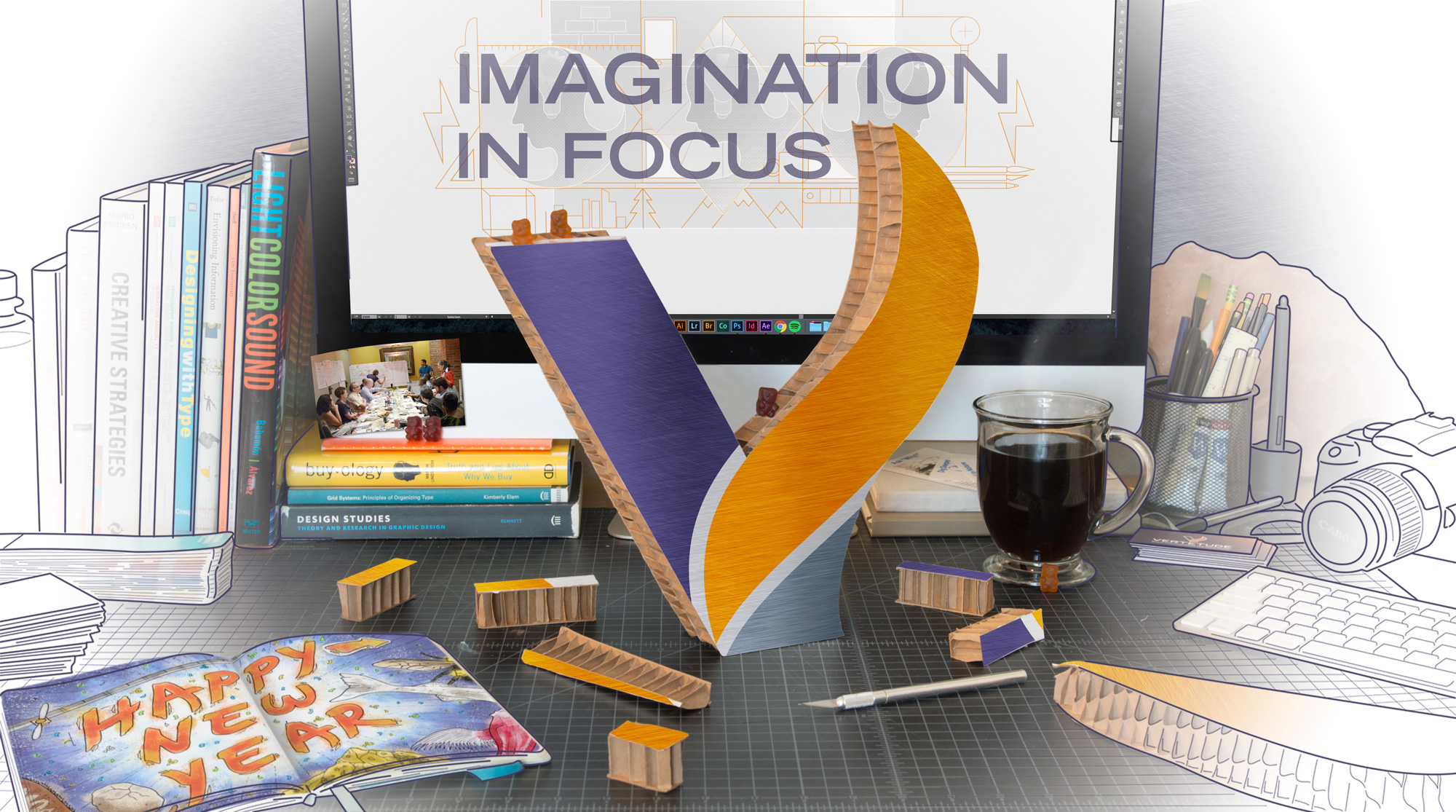 Imagination in focus photo and illustration of Seattle design space
